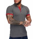 One Redox Poloshirt heren antraciet -