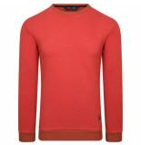 Breezy sweater- ronde hals brick -rood