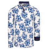 Carisma overhemd bloemenprint blauw