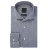 Profuomo Originale natural stretch overhemd met lange mouwen