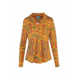 LaLamour Blouse long sleeves orange waves