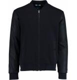 Bos Bright Blue Steff sweat vest nylon sleeve 21112st03sb/290 navy
