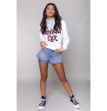 Colourful Rebel 10224 riviera chic basic sweater white-