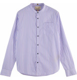 Scotch & Soda Ightweight blue striped shirt