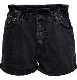 Only Cuba life paperbag dnm shorts black denim
