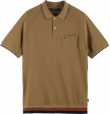 Scotch & Soda Structured cotton pique polo with c army