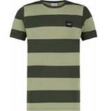 Ballin Amsterdam Ballin | t-shirt stripe dark army