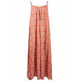 Genesis Dali long jurk oranje