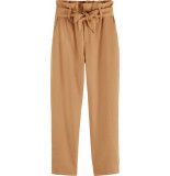 Maison Scotch Linen high rise pants in tapered fit straw