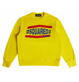 Dsquared2 Logo sweater geel boys