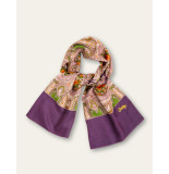 Oilily Aorient paisley sjaal paars-