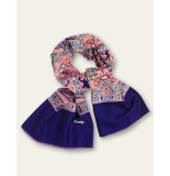 Oilily Aorient paisley sjaal paars blauw-