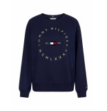 Tommy Hilfiger Katoenen sweatshirt met cirkellogo blauw