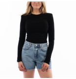 LA Sisters Ribbed shoulder pad bodysuit