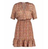 Freebird Mini-flower-pes-01 mini dress short sleeve emily orange