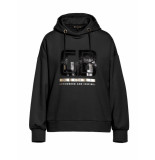 Goldbergh Fiza longsleeve hoodie zwart