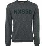 No Excess Sweater, r-neck, melange, terry nxs dk seagreen