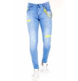 Local Fanatic Licht jeans met gaten 1024