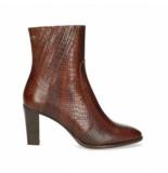 Fred de la Bretoniere Women ankle boot 8 cm printed leather brown
