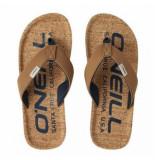 O'Neill Slipper men chad fabric sandals tobacco brown