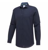 Blue Industry Overhemd lange mouw perfect fit Linnen/katoen