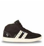 Q1905 Sneaker platina donker/crème