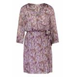Freebird Ethnic-feather-pes-01 short sleeve mini dress odette purple