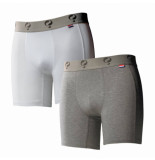 Q1905 Boxer 2-pack white / grey