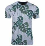 Twinlife heren t-shirt tropical print -