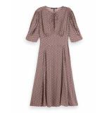 Scotch & Soda 162479 0219 drapey midi length dress combo c
