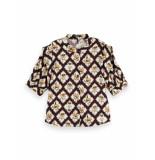 Scotch & Soda 162468 0218 shortsleeve shirt with sleeve inserts combo b