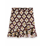 Scotch & Soda 162485 0218 printed skirt combo b