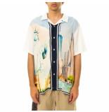 HUF Camicia uomo prestige s/s resort shirt white 71121mc000007.white