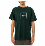 HUF T-shirt uomo essentials box logo s/s tee dkgrn 71121mc000087e.dkgrn