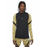 Nike Dri-fit strike drill top black saturn gold