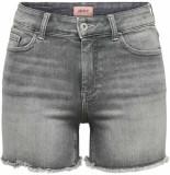 Only Blush life mid sk raw shorts noos medium grey