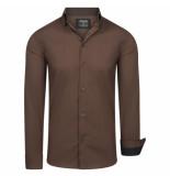 Enrico Polo overhemd dark brown