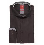 Pure Heren overhemd donker red label circkel contrast slim fit