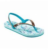 Reef Slipper little stargazer prints aqua mermaids