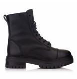 Omnio Leyton combat mid black leather