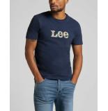 Lee Summer logo t shirt navy l63lfe35