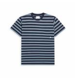 Woodbird Troi striped tee style no. 2116-401 navy
