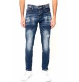 True Rise Ripped jeans stretch slim fit