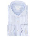 Profuomo Sky blue soft constructed overhemd met lange mouwen