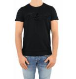 Balmain Bi-color flock t-shirt