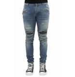 Balmain Ribbed patches slim jeans-dest