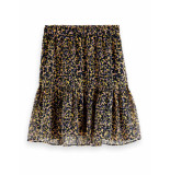 Scotch & Soda 161611 0219 printed shorter length skirt in recycled polyester mix combo c