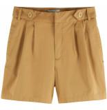 Maison Scotch Organic cotton chino shorts with pl sand