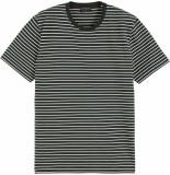 Scotch & Soda Classic cotton elastane jersey crew green striped