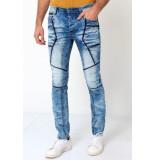 True Rise Biker jeans